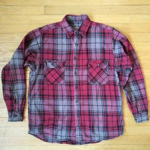 Vintage Large Moose Creek Grey and Red Flannel